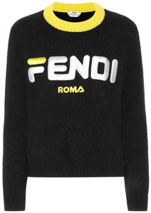 Fendi Longsleeve Zucca Embroidered Fila For Monogram Sweater
