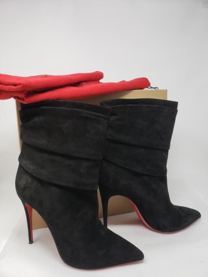 pretty nice 0305e 06672 Christian Louboutin Black Suede Ishtar 100 Pointed-toe Boots/Booties Size  EU 40 (Approx. US 10) Regular (M, B) 58% off retail