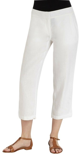 Item - White L Organic Linen Pull-on Pants Size 12 (L, 32, 33)