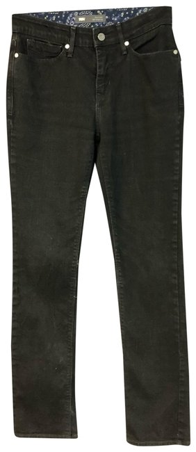 Item - Black Dark Rinse Stretch Cotton Denim Straight Leg Jeans Size 29 (6, M)