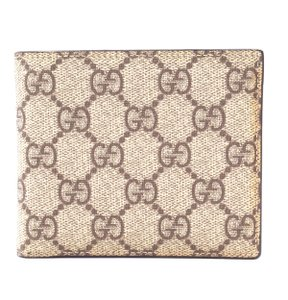 Gucci Guccissima Classic canvas and leather bifold Wallet card bill holder
