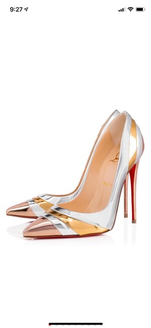 Item - Silver Eklectica Bronze Gold Stiletto Pumps Size EU 37 (Approx. US 7) Regular (M, B)