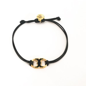 Tory Burch New Tory Burch Embrace Ambition Silk Gemini Bracelet BLACK ENAMEL