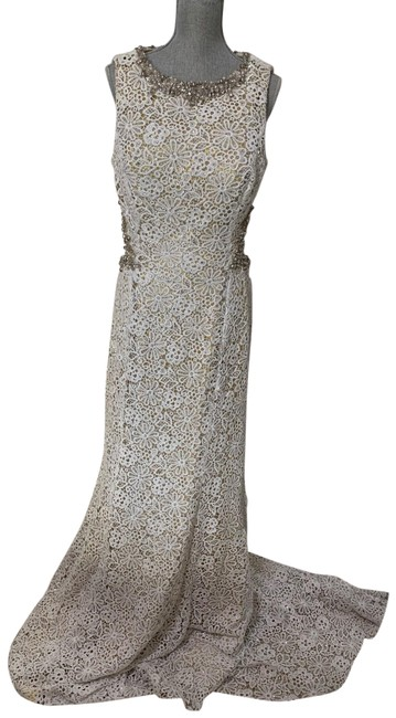 Item - Openback Beaded Lace Gown Long Formal Dress Size 16 (XL, Plus 0x)