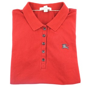 Burberry Buttons Polo T Shirt #30867 red