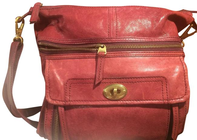 Item - Burgundy Leather Messenger Bag