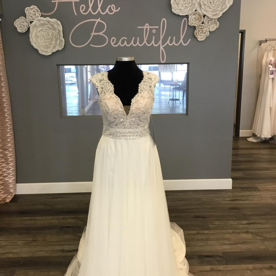 Maggie Sottero Lace Wedding Gown: Maggie Sottero Ivory Over Nude Lace/Tulle 8ms751 Monarch