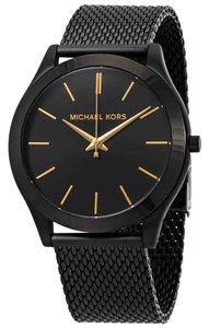 Michael Kors NWT Slim Runway Black IP Watch MK8607