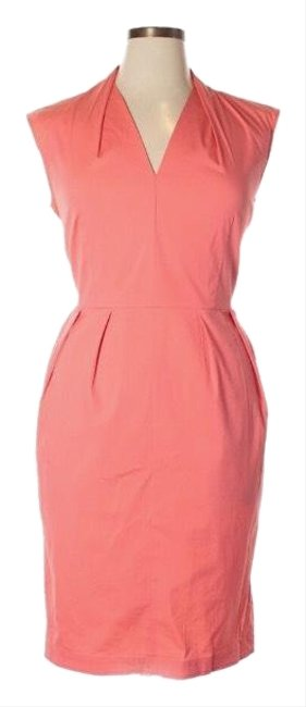 Preload https://img-static.tradesy.com/item/25671069/lafayette-148-new-york-coral-cotton-stretch-shirt-mid-length-workoffice-dress-size-12-l-0-1-650-650.jpg