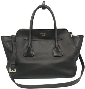 Prada Leather Tote Satchel Cross Body Bag