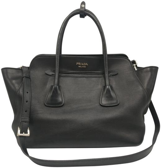 Prada Leather Tote Satchel Cross Body Bag Image 0