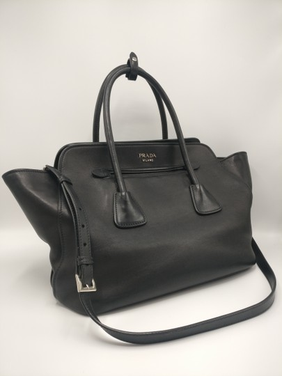 Prada Leather Tote Satchel Cross Body Bag Image 3