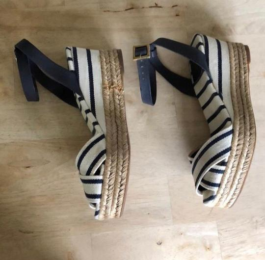 Tory Burch navy and white Wedges Image 2