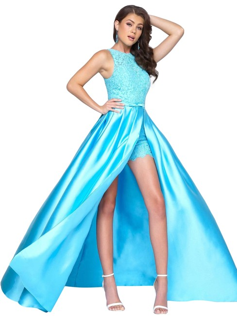 Preload https://img-static.tradesy.com/item/25671109/mac-duggal-couture-blue-lace-top-sleeveless-prom-with-romper-long-formal-dress-size-16-xl-plus-0x-0-2-650-650.jpg