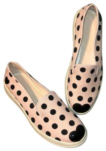 Hogan Katie Grand Slip On Polka Dot Sneakers Canvas Pink and Black Athletic