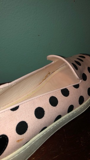 Hogan Katie Grand Slip On Polka Dot Sneakers Canvas Pink and Black Athletic Image 4
