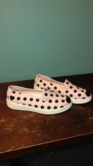 Hogan Katie Grand Slip On Polka Dot Sneakers Canvas Pink and Black Athletic Image 5