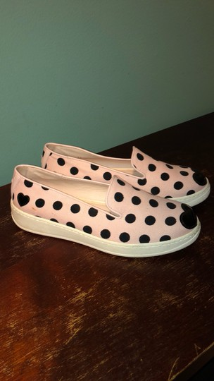 Hogan Katie Grand Slip On Polka Dot Sneakers Canvas Pink and Black Athletic Image 6