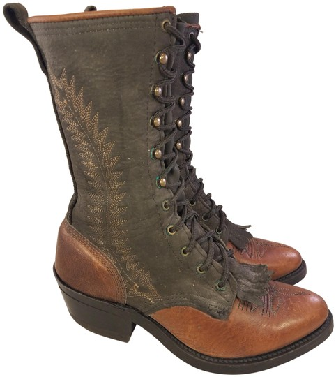 Preload https://img-static.tradesy.com/item/25671159/double-h-boots-brown-mint-vintage-woman-victorian-laces-2-bootsbooties-size-us-55-regular-m-b-0-1-540-540.jpg
