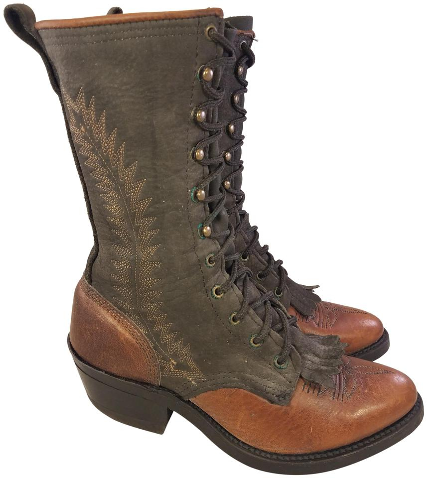 d92959604a1 Double-H Boots Brown Mint Vintage Woman Victorian Laces 2 Boots/Booties  Size US 5.5 Regular (M, B)