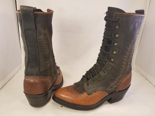 Double-H Boots Woman Victorian Frye Western brown Boots Image 4