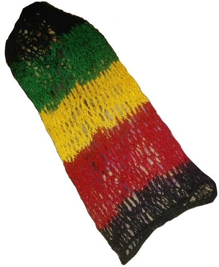 unknown Rasta Slouchy Baggy Net Beanie Hat for Long Hair or Dreads Dreds Image 2