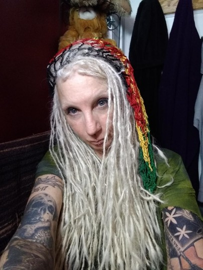 unknown Rasta Slouchy Baggy Net Beanie Hat for Long Hair or Dreads Dreds Image 5