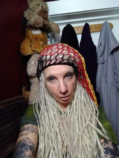 unknown Rasta Slouchy Baggy Net Beanie Hat for Long Hair or Dreads Dreds Image 6