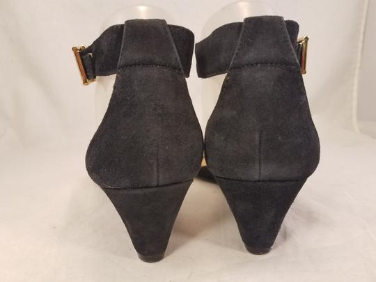 J.Crew Woman Wedges Woman Size 7 Suede black Sandals Image 5