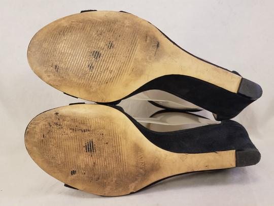 J.Crew Woman Wedges Woman Size 7 Suede black Sandals Image 6