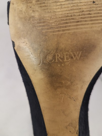 J.Crew Woman Wedges Woman Size 7 Suede black Sandals Image 8