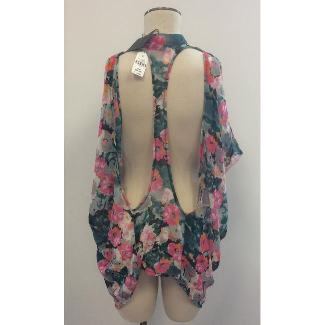 LF Sleeveless Floral Flowy Open Back Top Multi-Color Image 1