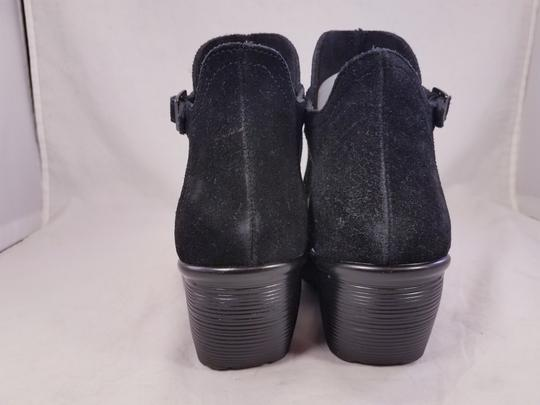 Skechers Woman Wedges Woman Size 8 Suede Suede black Sandals Image 5