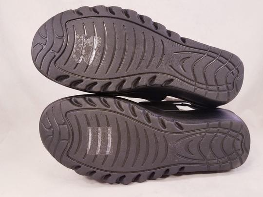 Skechers Woman Wedges Woman Size 8 Suede Suede black Sandals Image 6