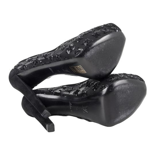 Louis Vuitton Heels Monogram Hidden Platform Black Pumps Image 6