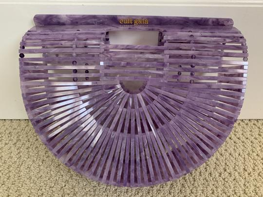 Cult Gaia Acrylic Clutch Tote Cut-out Satchel in Purple Image 1