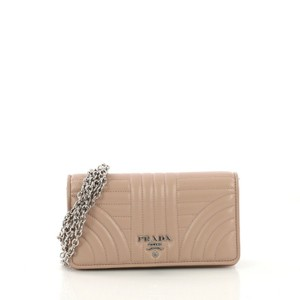 Prada Leather Wallet mauve pink Clutch