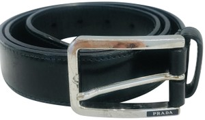Prada Black leather belt