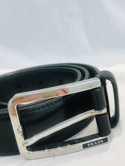 Prada Black leather belt Image 1