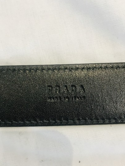 Prada Black leather belt Image 10