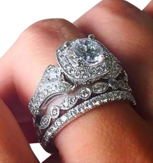 Preload https://img-static.tradesy.com/item/25671364/white-silver-gold-princess-square-halo-solitaire-diamond-14k-filled-engagement-wedding-floral-antiqu-0-1-540-540.jpg