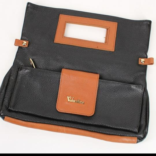 Preload https://item5.tradesy.com/images/valentina-two-tone-brownblack-leather-clutch-25671424-0-0.jpg?width=440&height=440