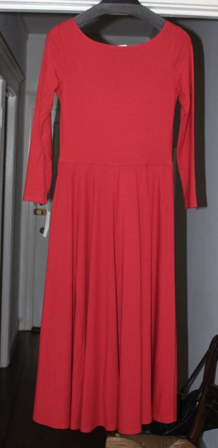 Reformation short dress Lipstick Red Midi Lou Jersey Fit And Flare on Tradesy Image 2