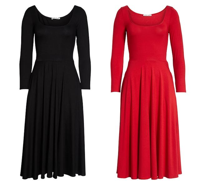 Reformation short dress Lipstick Red Midi Lou Jersey Fit And Flare on Tradesy Image 6