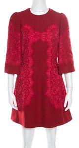 Dolce&Gabbana short dress Red Lace Floral on Tradesy