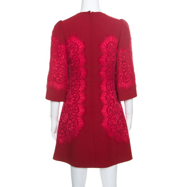 Dolce&Gabbana short dress Red Lace Floral on Tradesy Image 1