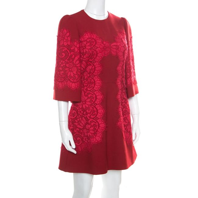 Dolce&Gabbana short dress Red Lace Floral on Tradesy Image 2
