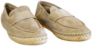 Vince Suede Espadrille Woven Gray Flats