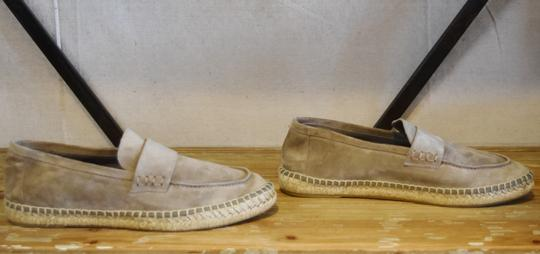 Vince Suede Espadrille Woven Gray Flats Image 2
