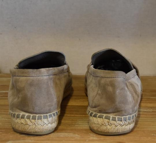 Vince Suede Espadrille Woven Gray Flats Image 3